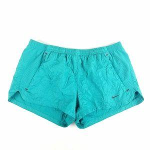 Womens Nike Dri-Fit Teal Blue Running Gym Shorts